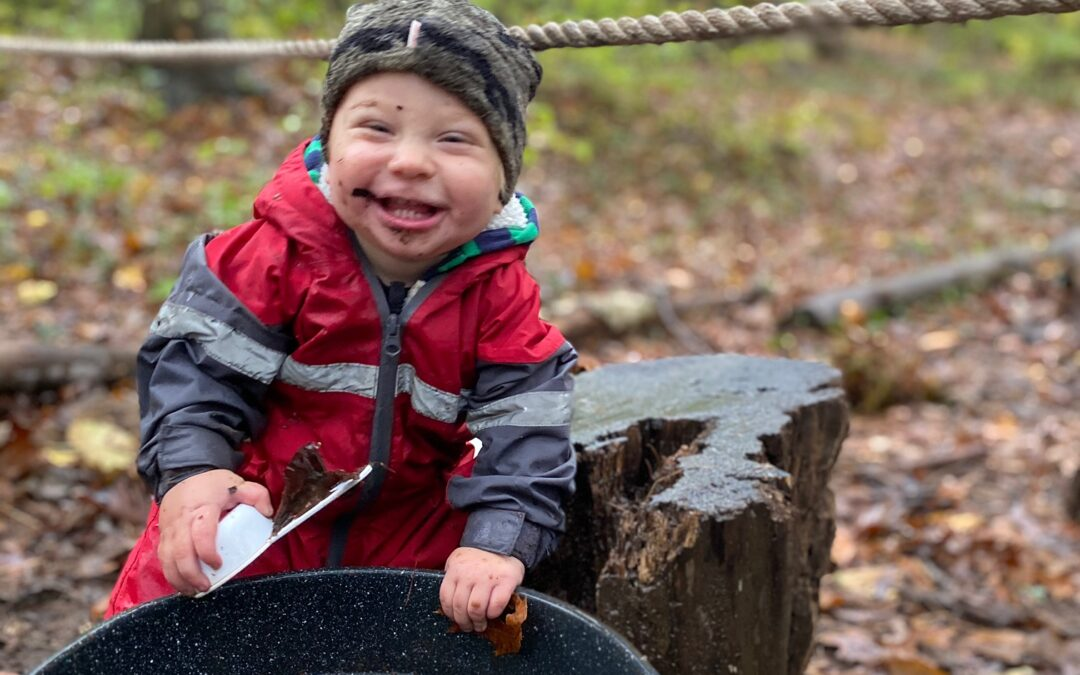 forest school, aishling forest school, mud play