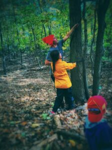 aishling forest school, forest school, rope swing