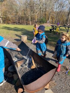 aishling forest school, fire circle, play-based