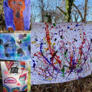 aishling forest school, art, process-based art, art in nature