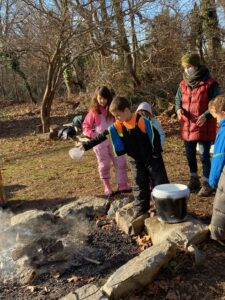 aishling forest school, fire ceremony