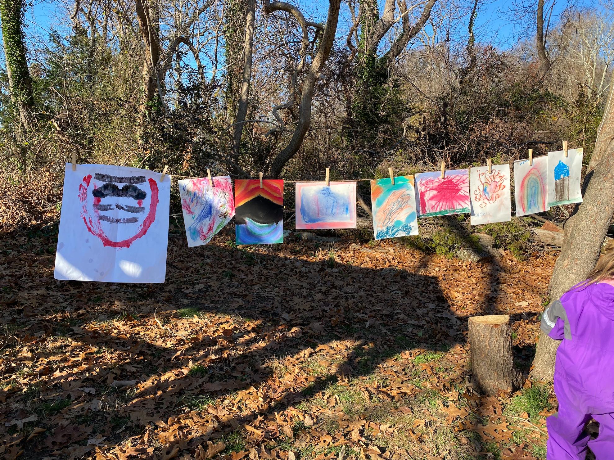 aishling forest school, art, art in nature