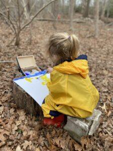 process based art sit spot aishling forest school