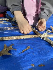 process based nature art aishling forest school