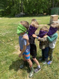 blindfold caterpillar aishling forest school